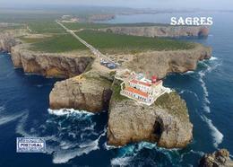 Portugal Cape St Vincent Lighthouse Aerial View New Postcard Leuchtturm AK - Lighthouses