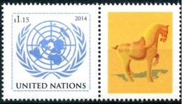 2014 - O.N.U. / UNITED NATIONS - NEW YORK - ANNO DEL CAVALLO / YEAR OF HORSE. MNH - Blocchi & Foglietti