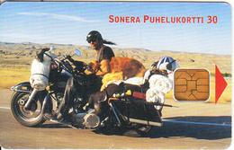 FINLAND - Motorbike, The Sheriff-South Dakota, Sonera Telecard, Tirage 30000, 04/01, Used - Motorbikes