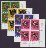SUISSE SCHWEIZ SWITZERLAND 1968 Yt CH 824-827 Mi CH 891-894 Native Birds BLOCS NEUFS** - Suisse