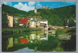LU.- VIANDEN. Pittoresque Vallée De L'Our. Le Chateau - Hockelstour Et Pont De L'Our. Ongelopen. - Vianden