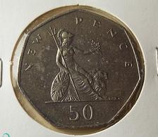 Great Britain 50 Pence 1981 Varnished - 1971-…: Dezimalwährungen