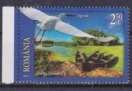 2017 Romania, Roumanie, Rumanien -  Welcome To Romania, Tourism, Nature, Donau Delta 1v., MNH - Cygnes