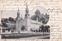 EGLISE STE ANNE DE BEAUPRE. CPA CIRCULEE CIRCA 1905 A MASSACHUSS. - BLEUP - Québec - Beauport