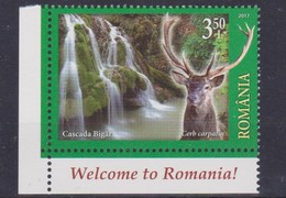 2017 Romania, Roumanie, Rumanien -  Welcome To Romania, Tourism, Deer, Bigar Waterfall 1v., MNH - Other