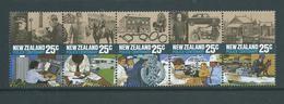 New Zealand 1986 Police Strip Of 5 MNH - New Zealand