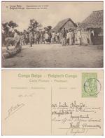 Belgische Congo Belge Postwaardestuk Entier Postal 1916 Boma 5 Ct Centimes Rassemblement Pour Le Travail - Entiers Postaux