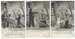 Fantaisie - Lot Complet De 6 CPA - Les Deux Gosses - Enfants Et Bohémien - 1904-1905 - Fantaisies