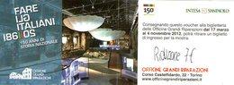 B 2466 - Biglietto D'ingresso, Officine Grandi Riparazioni, Torino - Biglietti D'ingresso
