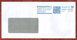 Brief, FRANKIT Neopost 1D110.., Exhausto Bingen, 70 C, 2017 (71362) - [7] République Fédérale