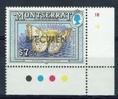 "Montserrat, Butterfly, White Peacock, Overprint ""SPECIMEN"", 1992, MNH VF - Montserrat"