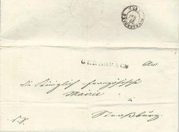 Baden 1843, L1 Gernsbach Auf Portofreiem Dienst Auslands(!) Brief. #2049 - Baden