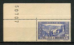 ANDORRE 1937 N° 84 ** Neuf MNH Superbe C 20 € Chapelle De Notre-Dame De Meritxell - Andorre Français