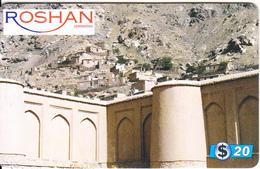 AFGHANISTAN - Walls, Roshan Prepaid Card $20, Used - Afghanistan
