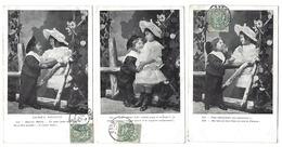 Fantaisie - Lot Complet De 6 CPA - Causerie D'Enfants - 1905 - Fantaisies
