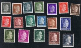 1941 4. Nov. Ostland Hitler Mi DE-OS 1 - 18 Sn RU N9 -  28 Yt DE-OS 21 - 38  Postfr. Xx - Besetzungen 1938-45