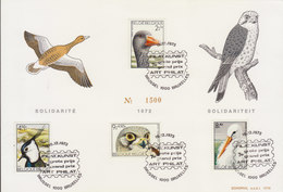 BELGIUM 1972 Special Card With Birds LIMITED EDITION.BARGAIN.!! - Oiseaux