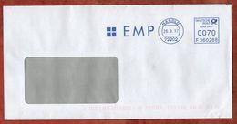 Brief, Francotyp-Postalia F360268, EMP, 70 C, Nagold 2017 (71368) - Machine Stamps (ATM)