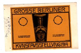 Carte Postale, Ansichtskarte Berliner Kunstausstellung 1914, Berlin, Sig. Hans Looschem - Autres Illustrateurs