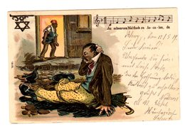 Carte Postale, Ansichtskarte Jüdisches (?) Restaurant, Alkoholismus, Alcoholisme, Judaika (?) - Europe