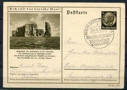 """German Empires1937 GS Hindenburg Mi.Nr.P236/37-90-1""""Dich Ruft Das Deutsche Meer-Helgoland""""m.Fußball,Soccer SST""""1 GS Used - Briefe U. Dokumente"""