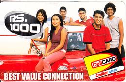 SRI LANKA - People, Celtel Prepaid Card Rs.1000, Used - Sri Lanka (Ceylon)