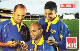 SRI LANKA - Cricket Team Players, KIT By Dialog Prepaid Card Rs.100, Used - Sri Lanka (Ceylon)