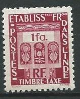 Inde Française  - Taxe      - Yvert N° 19 **      - Po 62537 - India (1892-1954)