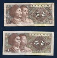 CHINA 1 Jiao 1980 2  Banknotes - China