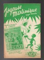 Partition Joyeuse Martinique Negro Samba Créé Par L'ensemble Typique Delvi & Son Orchestre Exotique - Scores & Partitions