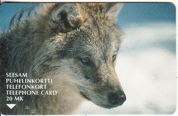 FINLAND - Wolf, Turun Puhelin Telecard, CN : 2020, Tirage 28500, Exp.date 12/01, Used - Finlande