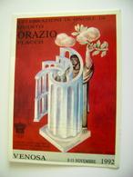 1992  VENOSA POTENZA  CELEBRAZIONE  DI QUINTO ORAZIO   EVENTO MANIFESTAZIONE CARTOLINA  SCRITTA SUL RETRO - Manifestazioni
