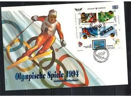 Uruguay 1994 Olympic Games Lillehammer FDC - Winter 1994: Lillehammer