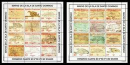 Dominican Republic Maps Of The Island Santo Domingo MNH 2017 NEW - Dominikanische Rep.