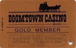 Boomtown Biloxi Casino - Biloxi, MS - BLANK GOLD Slot Card - Casino Cards