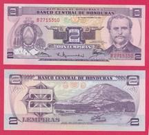 Honduras P61, 2 Lempira, Soto / Port Of Amapala Tigre Island, 1976 UNC UV $9 CV! - Honduras