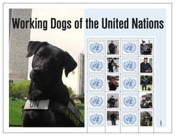 2011 - O.N.U. / UNITED NATIONS - NEW YORK - FOGLIO DI FRANCOBOLLI PERSONALIZZATI - CANI DA LAVORO. MNH - Blocchi & Foglietti