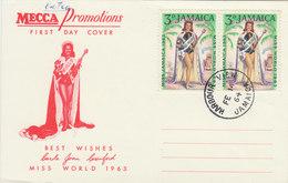JAMAICA 1964 FDC CARD MISS WORLD 1963.BARGAIN.!! - Jamaica (1962-...)