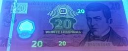 Honduras P95, 20 Lempira, José Diaz Del Valle / Old Palace, UNC 2008 POLYMER! - Honduras