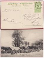 Belgische Congo Belge Postwaardestuk Entier Postal 5 Ct Centimes MATADI Armee Landmacht La Force Publique 1916 - Entiers Postaux