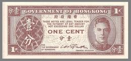 Hong Kong P321 1 Cent, King George VI , 1945, Uncirculated, Bradbury-Wilkinson - Hong Kong