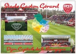 Stade De Football - Stade Gaston Gérard - DIJON - Carte Géo De La Cote D'Or - Capitale De La Bourgogne - Cpm - Vierge - - Soccer