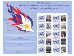 2012 - O.N.U. / UNITED NATIONS - NEW YORK - FOGLIO DI FRANCOBOLLI PERSONALIZZATI - DICHIARAZIONE DI MANILA. MNH - Blocchi & Foglietti