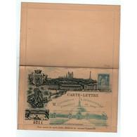 Entier Postaux -1894  Carte Lettre Exposition Inter. Coloniale Lyon  (J31) - Biglietto Postale