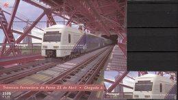Eisenbahn 1999 Portugal 2360+Block 154 ** 9€ Züge Auf Der Tejo-Brücke Bloque Bridge M/s Train Bloc Sheet Bf Railway - Sonstige (Land)