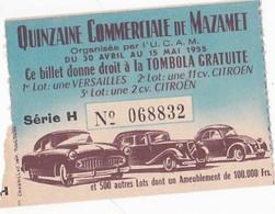 Quinzaine Commerciale Mazamet 1955 : Versailles, 11cv Citroën, 2 Cv - Voitures