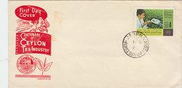 SRI LANKA(CEYLON) 1967 FDC TEA INDUSTRY.BARGAIN.!! - Sri Lanka (Ceylon) (1948-...)