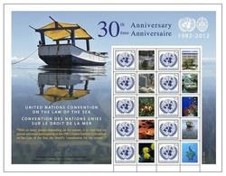 2012 - O.N.U. / UNITED NATIONS - NEW YORK - FOGLIO DI FRANCOBOLLI PERSONALIZZATI - CONVENZIONE SUL DIRITTO DEL MARE. MNH - Blocchi & Foglietti