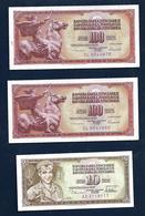 YUGOSLAVIA 100 Dinars 1986 10 Dinars 1978 - Yugoslavia