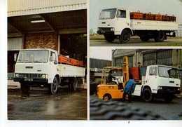 Gamme UNIC FIAT, Fiat 90 NC Et 100 EC,cabine Avancee,moteur Diesel, Camions - Altri